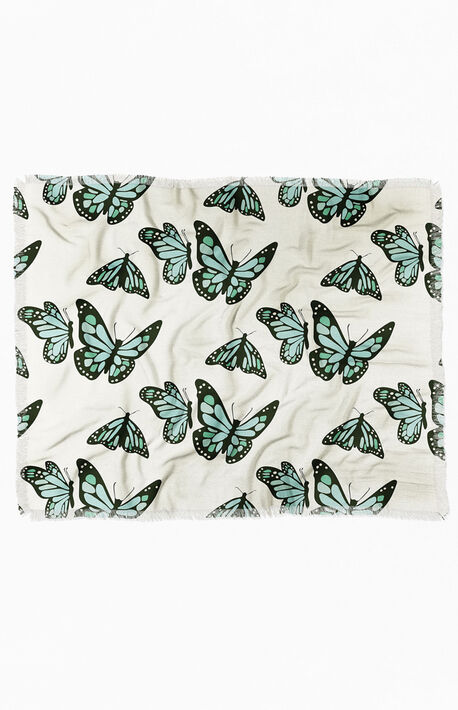 Monarch Butterflies Woven Throw Blanket