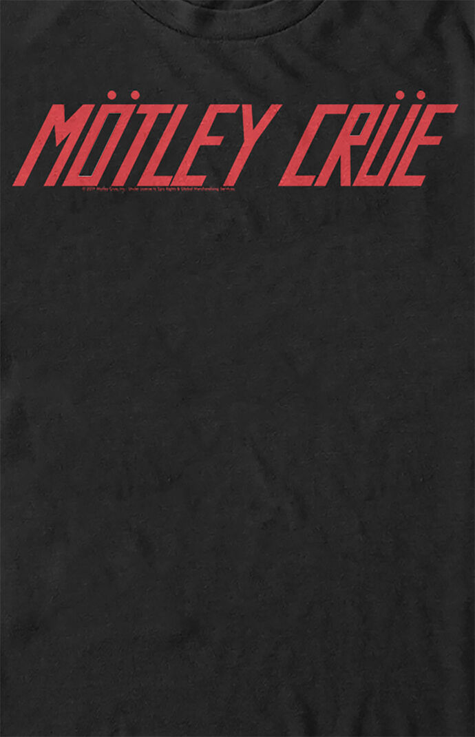 Motley Crue Text Logo T-Shirt