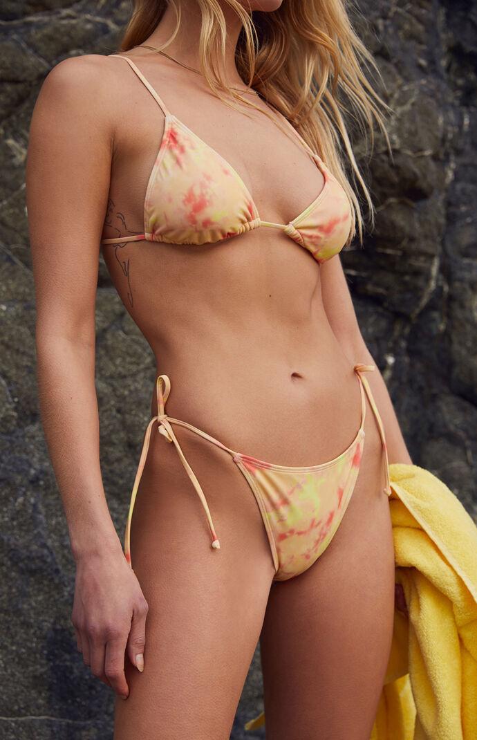 Peach Washed Playa Side Tie Bikini Bottom