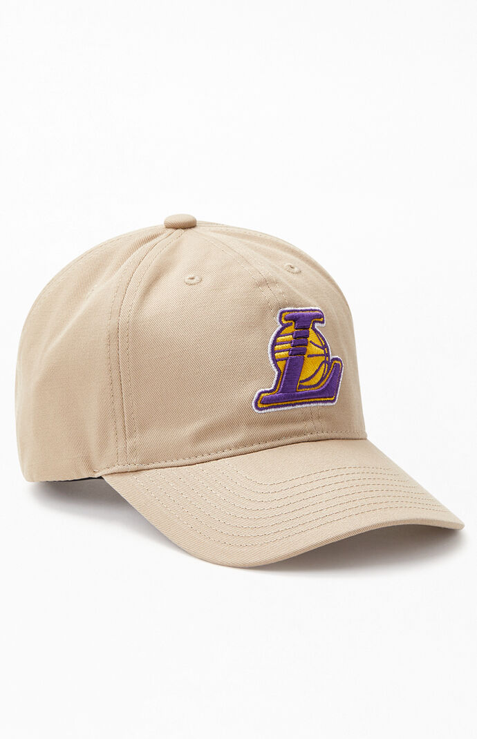 Tan Los Angeles Lakers Strapback Dad Hat