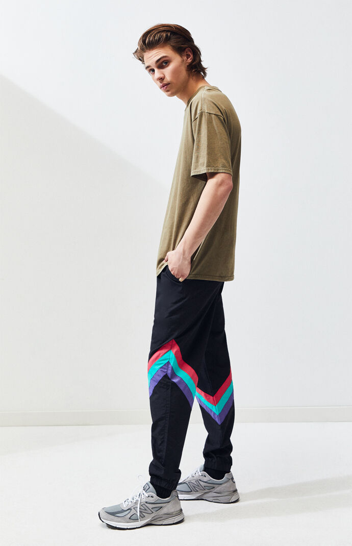 c425d3dfc8 Nylon Diagonal Stripe Warm Up Pants