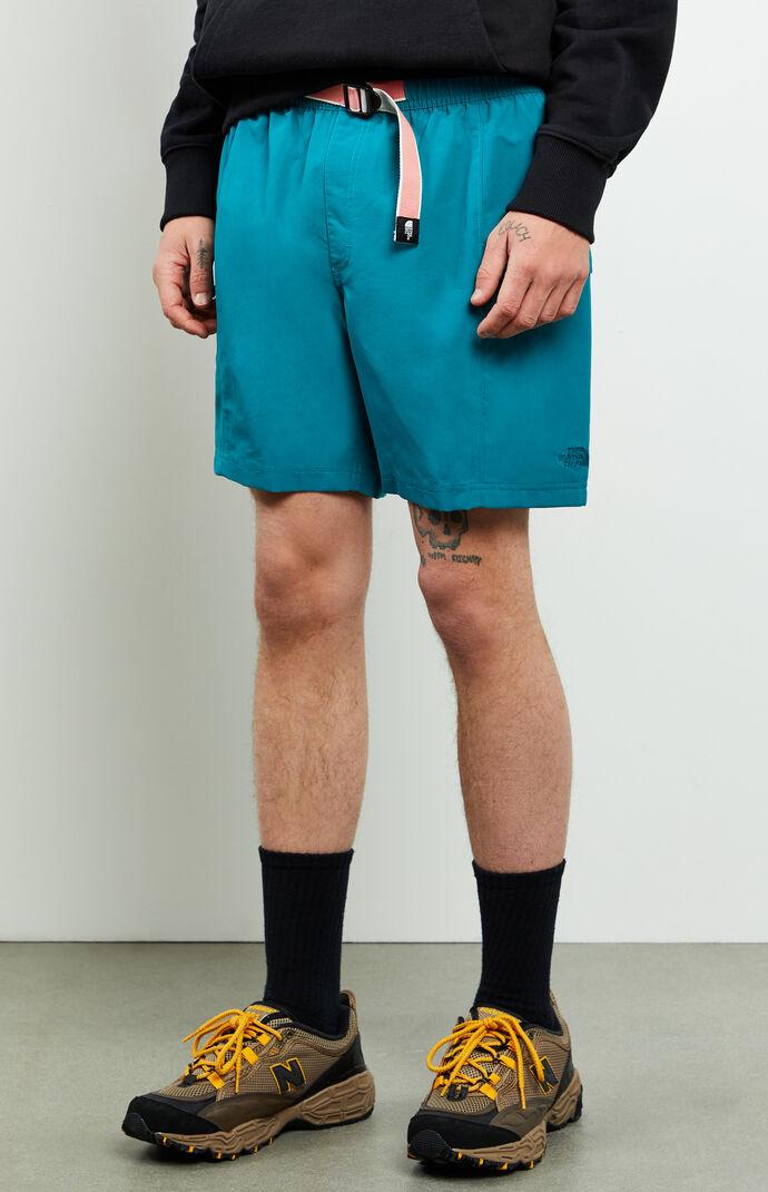 Teal Class V Belted Hybrid Shorts
