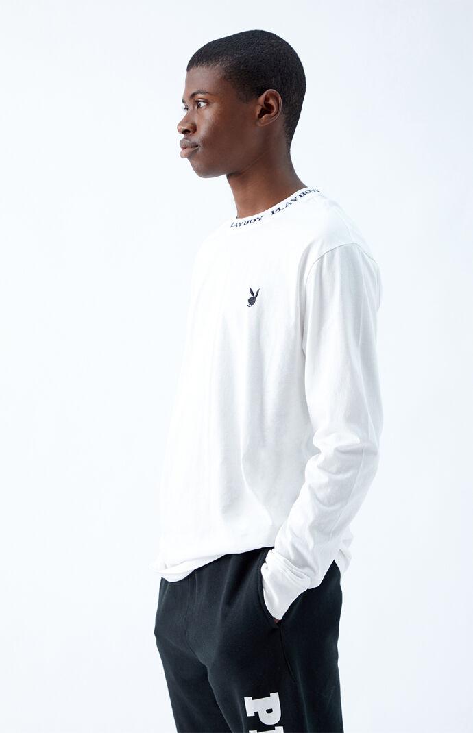 By PacSun Logo Collar Long Sleeve T-Shirt