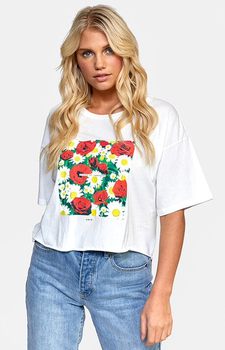 Super Bloom Boyfriend Cropped T-Shirt