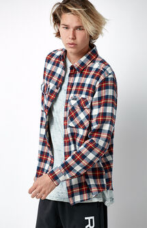 That'll Work Plaid Flannel Long Sleeve Button Up Shirt