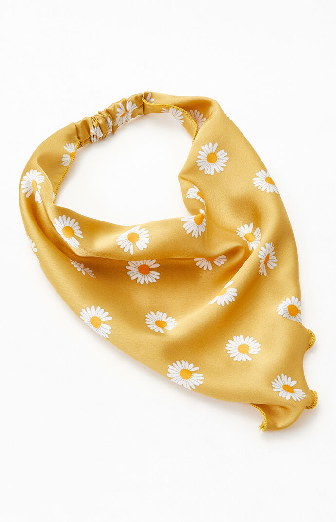 Yellow Daisy Headwrap