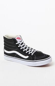 Women's Sk8-Hi Slim Black & White Sneakers