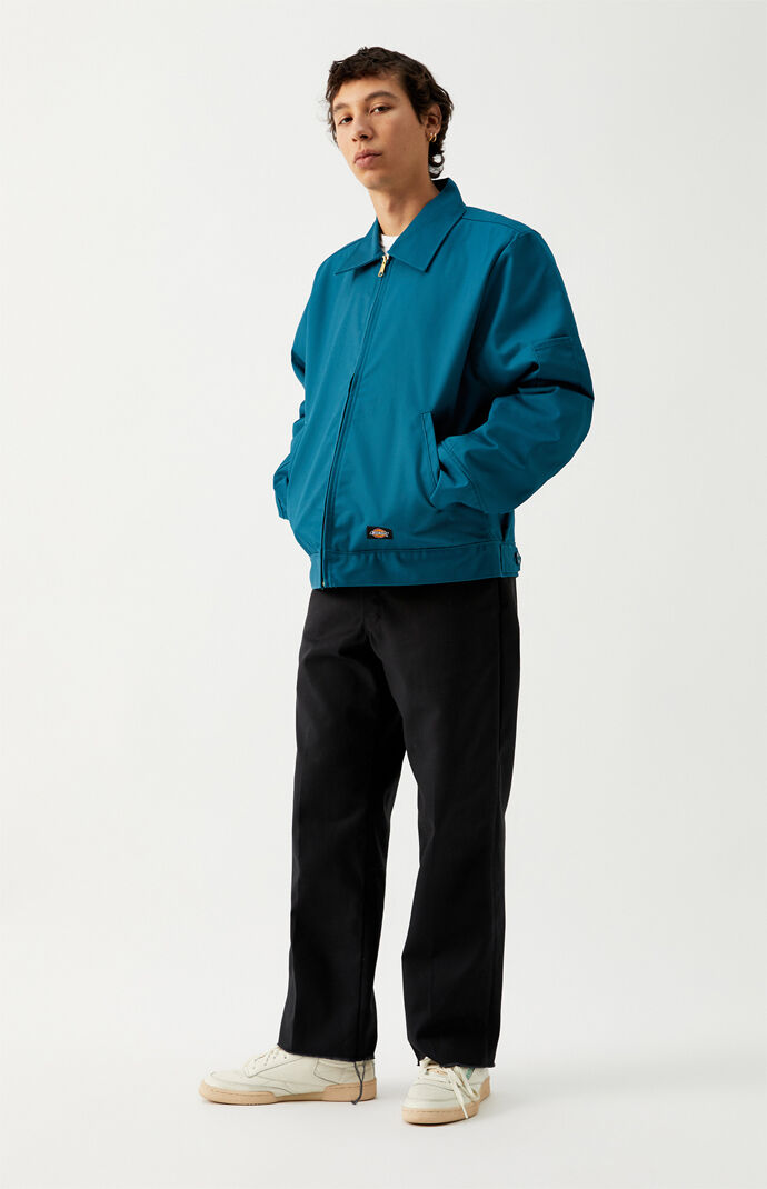 Teal Insulated Eisenhower Work Jacket