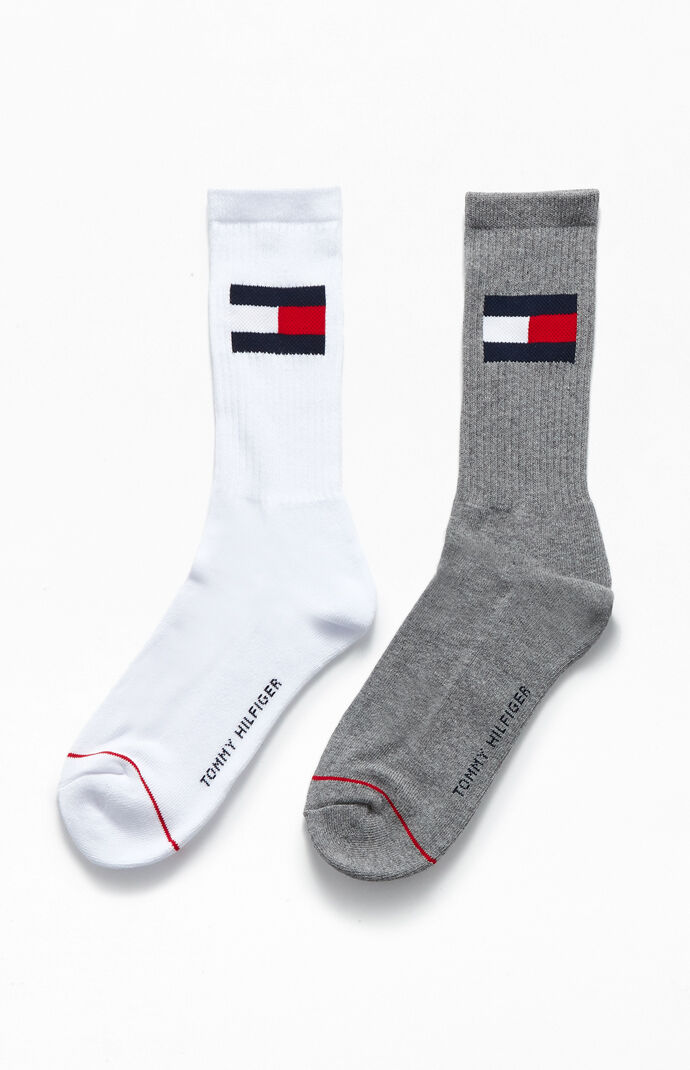 2 Pack Flag Crew Socks