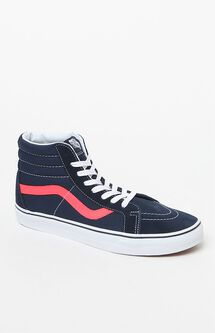 Neon Leather Sk8-Hi Reissue Blue & Red Shoes