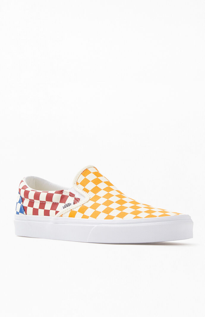 fca26eea1f27 Multi Checkerboard Slip-On Shoes