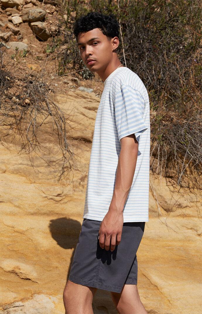 Split Mix Striped T-Shirt
