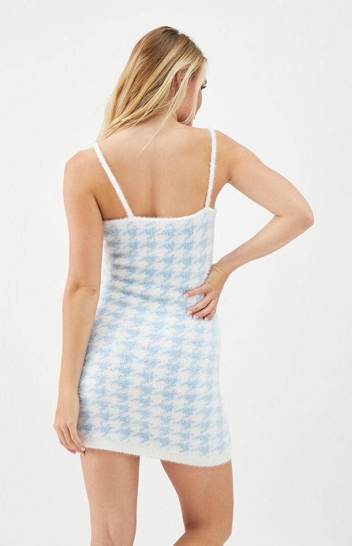 Printed Fuzzy Mini Dress