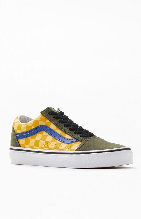 e21e9e10906c Green & Yellow OTW Rally Old Skool Shoes
