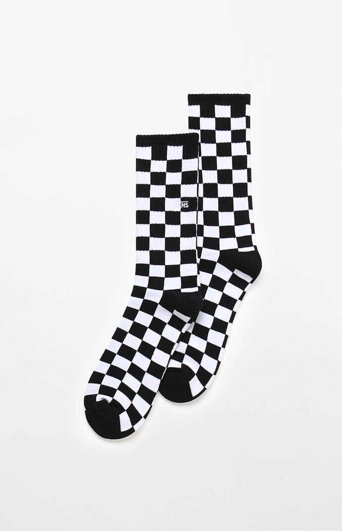 Checkerboard Crew Socks