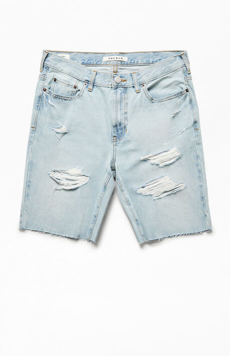 Light Indigo Denim Shorts