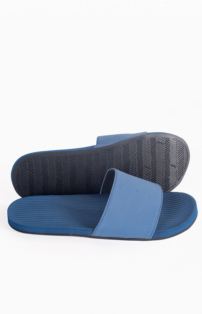 Navy ESSNTLS Slide Sandals