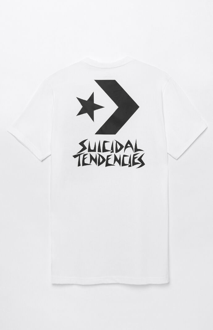 e27f7c634eb8 Converse x Suicidal Tendencies Chevron T-Shirt