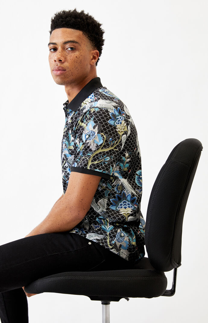 Paisley Flower Polo Shirt