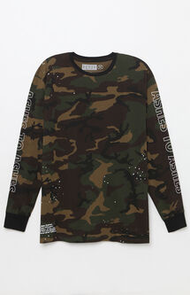 Ashes Camouflage Long Sleeve Boxy T-Shirt