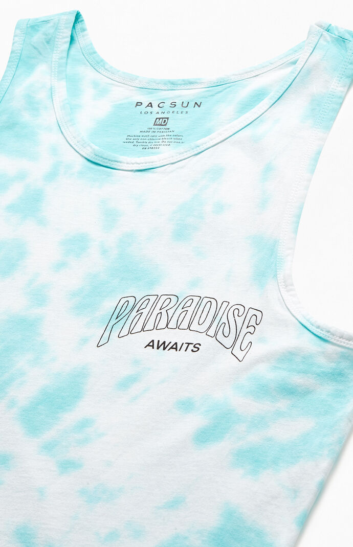 Tie-Dyed Paradise Awaits Tank Top