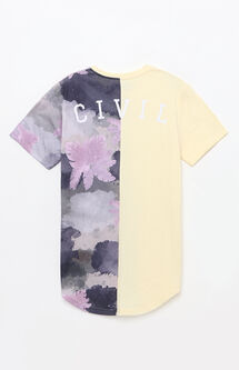 Watercolor Camo Split Drop T-Shirt
