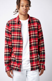 Banfield II Plaid Flannel Long Sleeve Button Up Shirt
