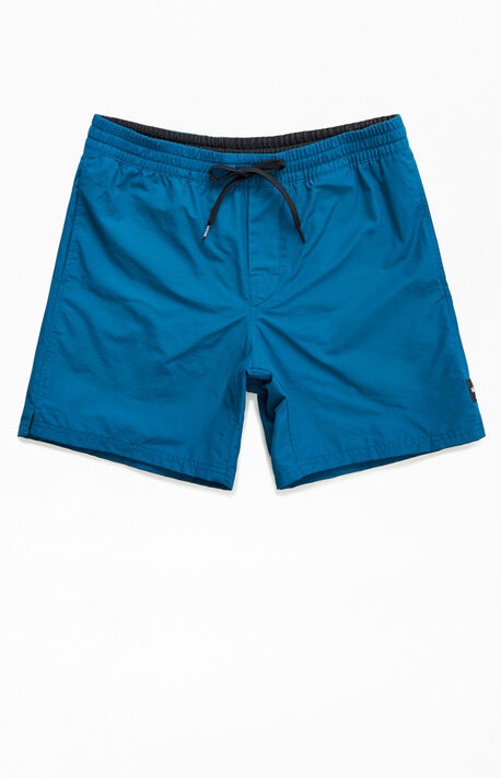 Blue Primary Nylon Volley Shorts