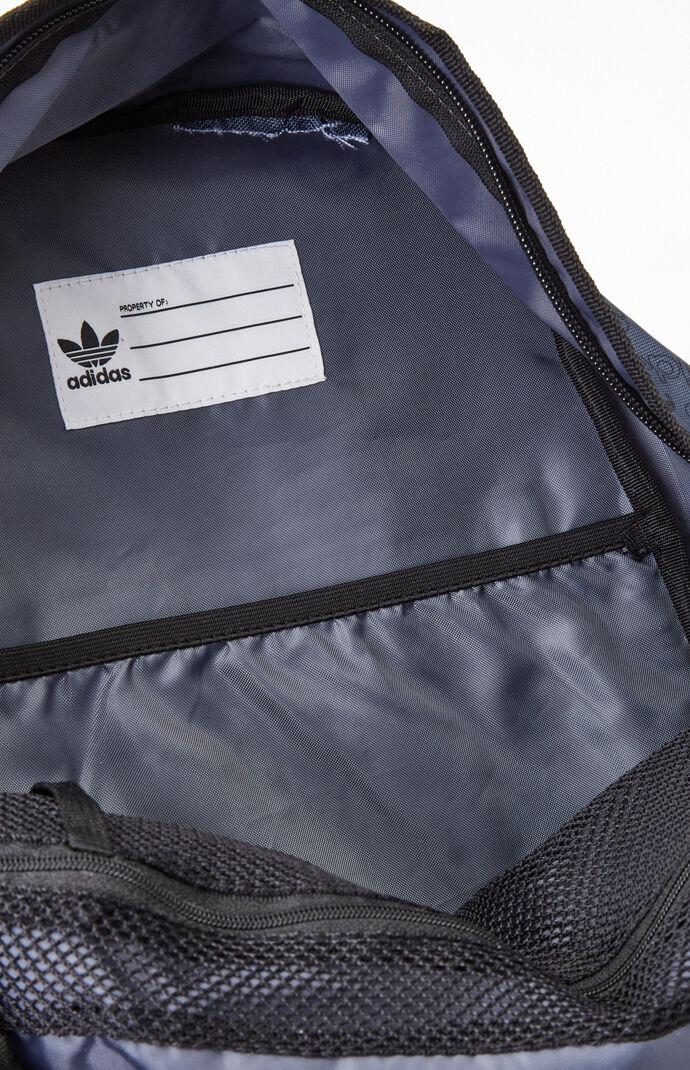 Charcoal Print Trefoil Pocket Backpack