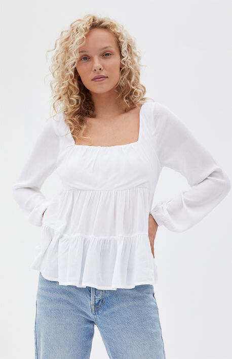 Square Neck Babydoll Top