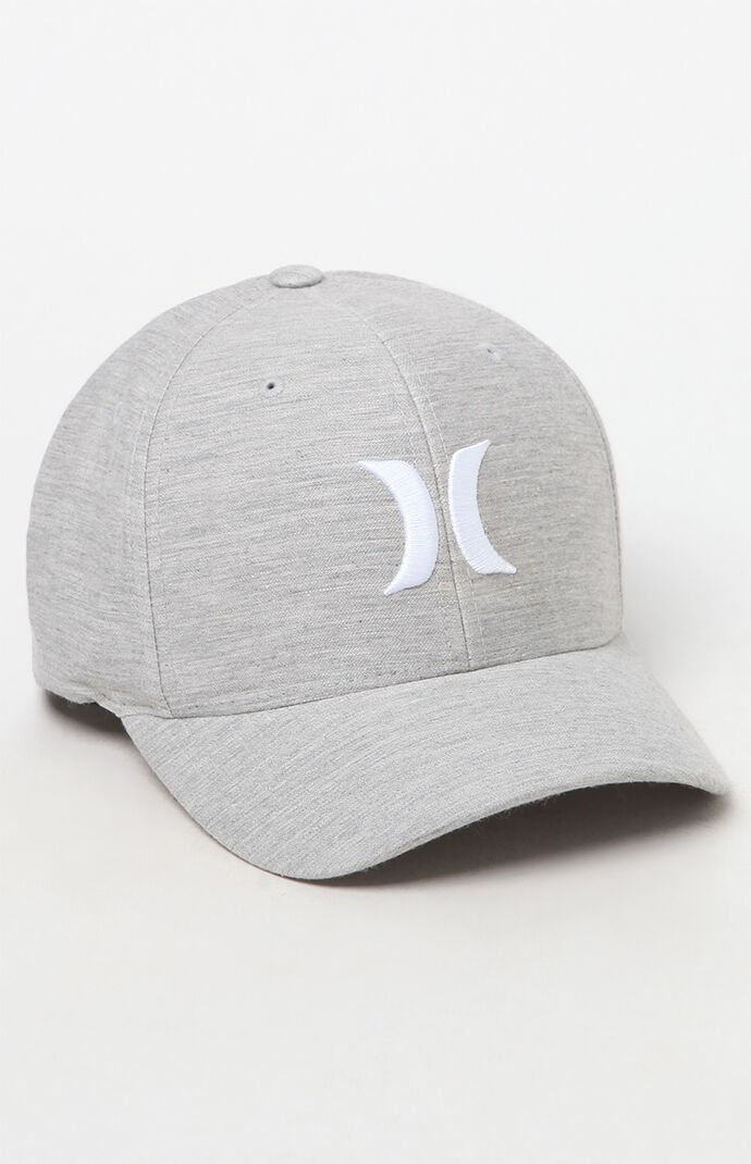 Hurley One And Only Textures Flexfit Hat - Gray 6566335