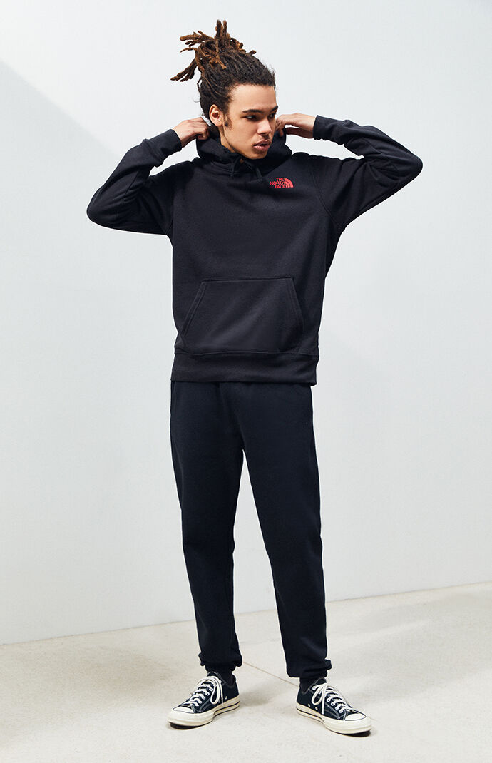 Black Red Box Pullover Hoodie
