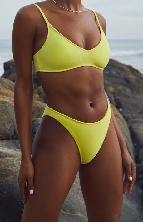 Yellow Eden High Waisted Bikini Bottom