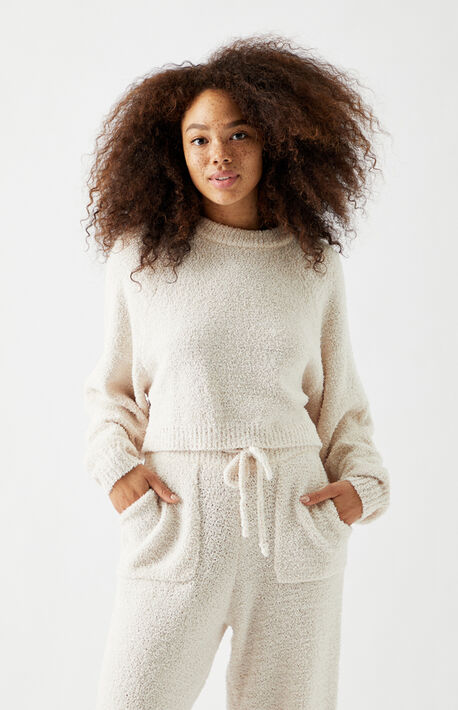 Cropped Raglan Sweater