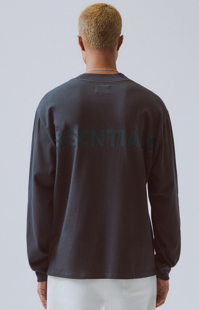 Fog Fear Of God Essentials Logo Long Sleeve T Shirt At Pacsun Com
