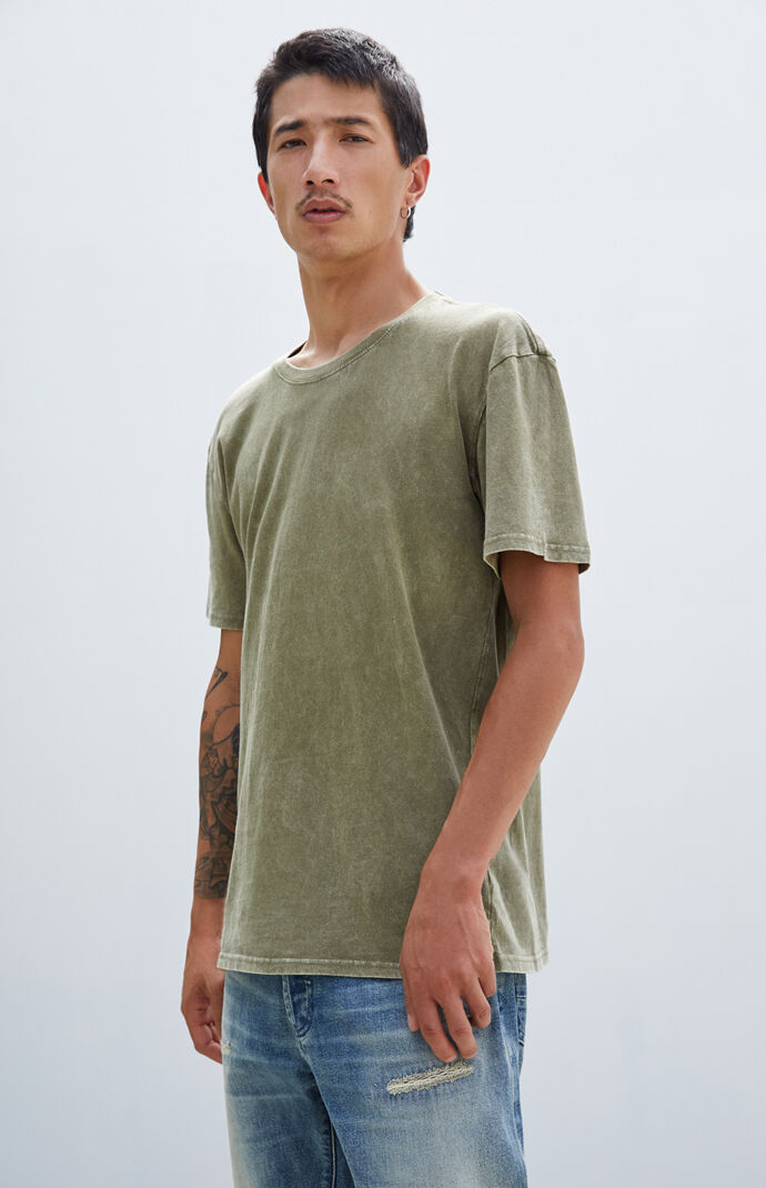 Olive Acid Wash T-Shirt