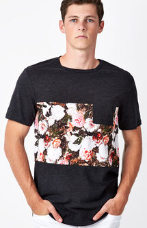 Floral Panel Pocket T-Shirt