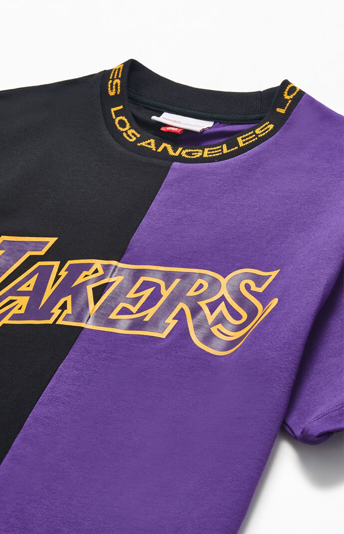 Mitchell & Ness Los Angeles Lakers Split T-Shirt | PacSun