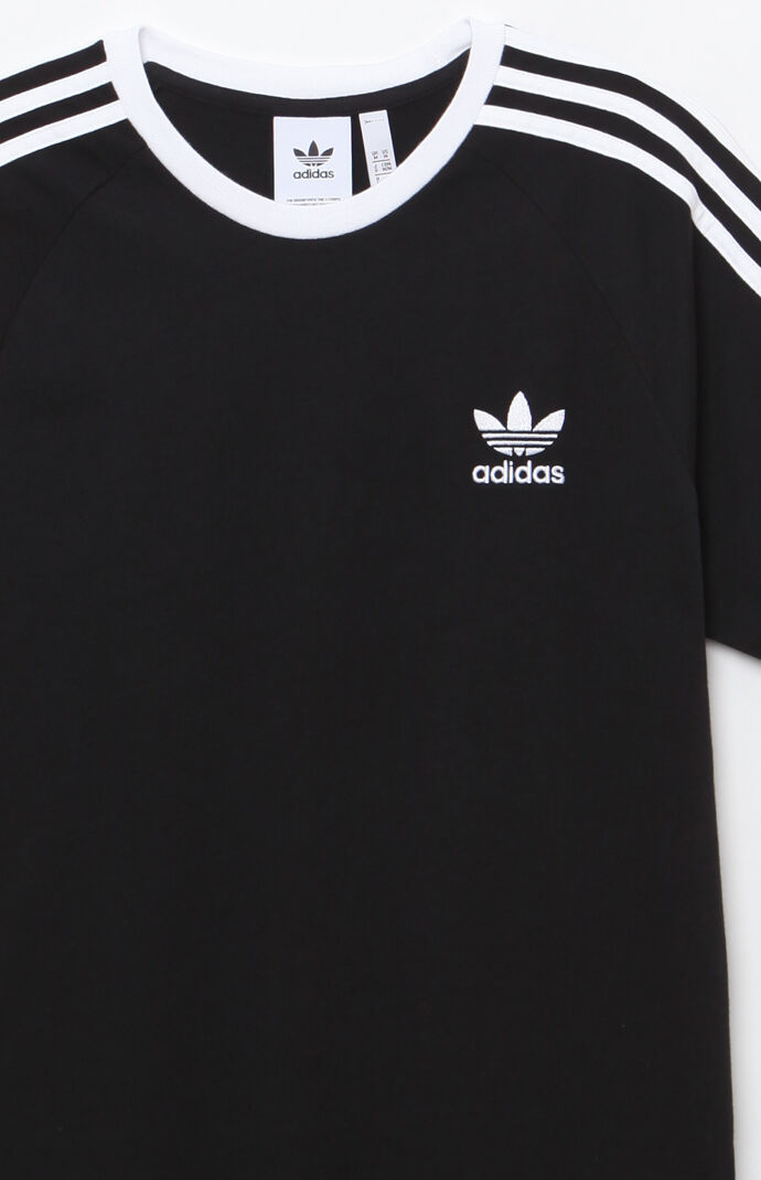Adidas 3 stripes ringer t shirt at for Adidas ringer t shirt