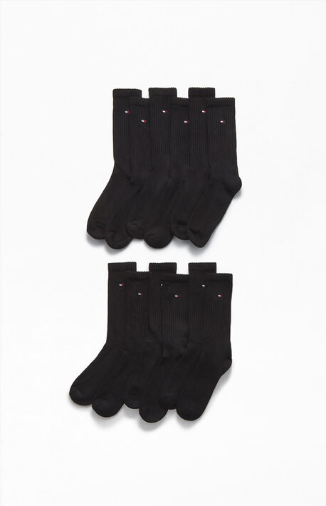 6 Pack Mini Flag Crew Socks