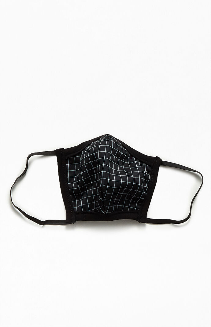 Small Grid Print Face Mask