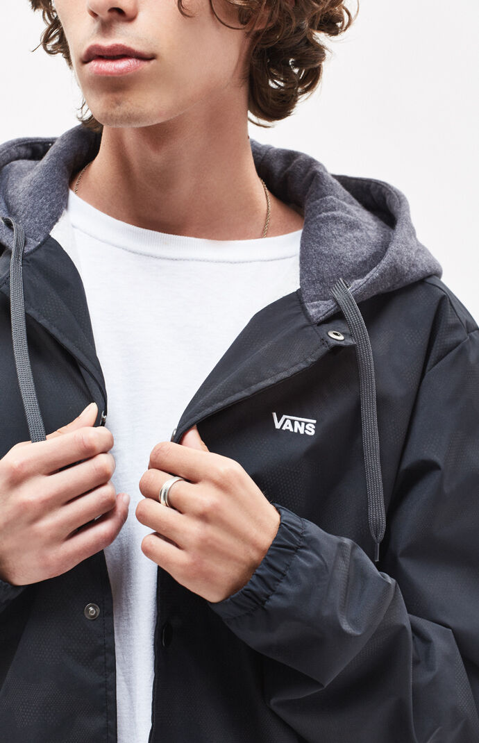 12a984a20cf Vans Riley Hooded Coach Jacket | PacSun