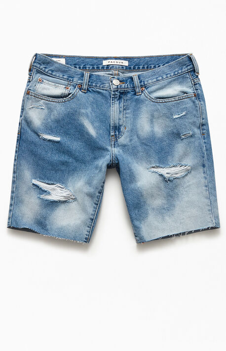 Leo Cloud Wash Denim Shorts