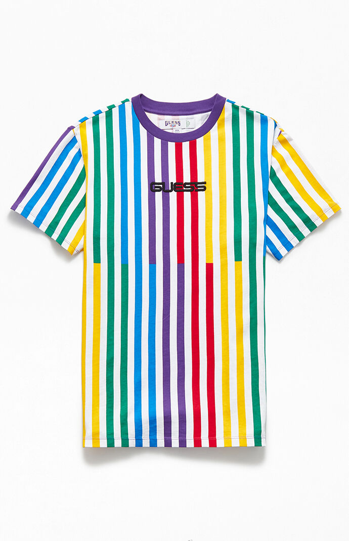 x J Balvin Striped T-Shirt