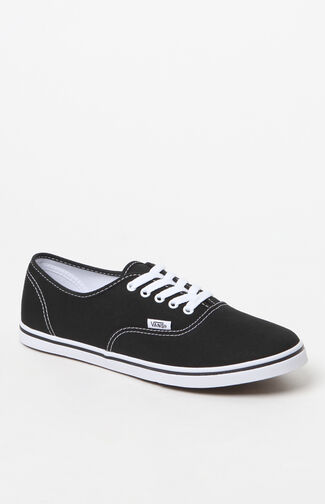 Women's Black & White Authentic Lo Pro Canvas Sneakers