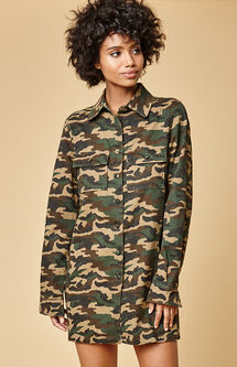 Regulate Army Shirt Dress