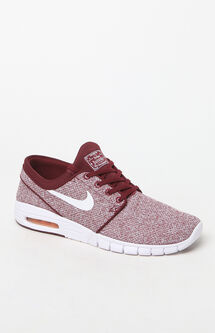 Stefan Janoski Max Knit Red & White Shoes