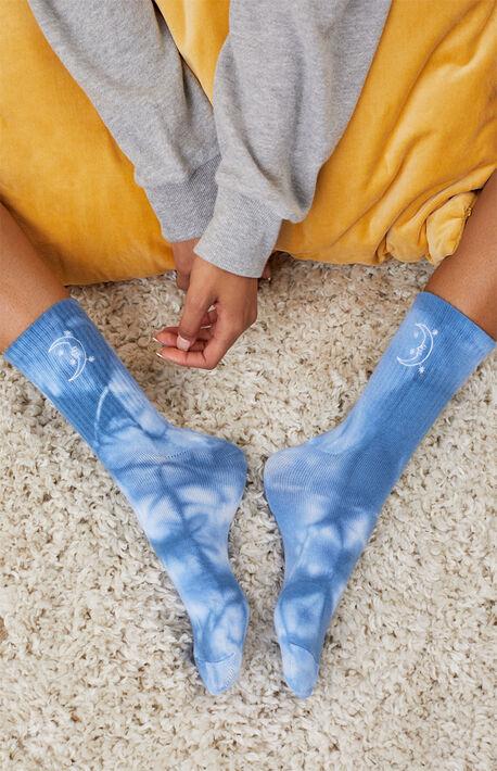 Tie Dye Moon Recycled Socks