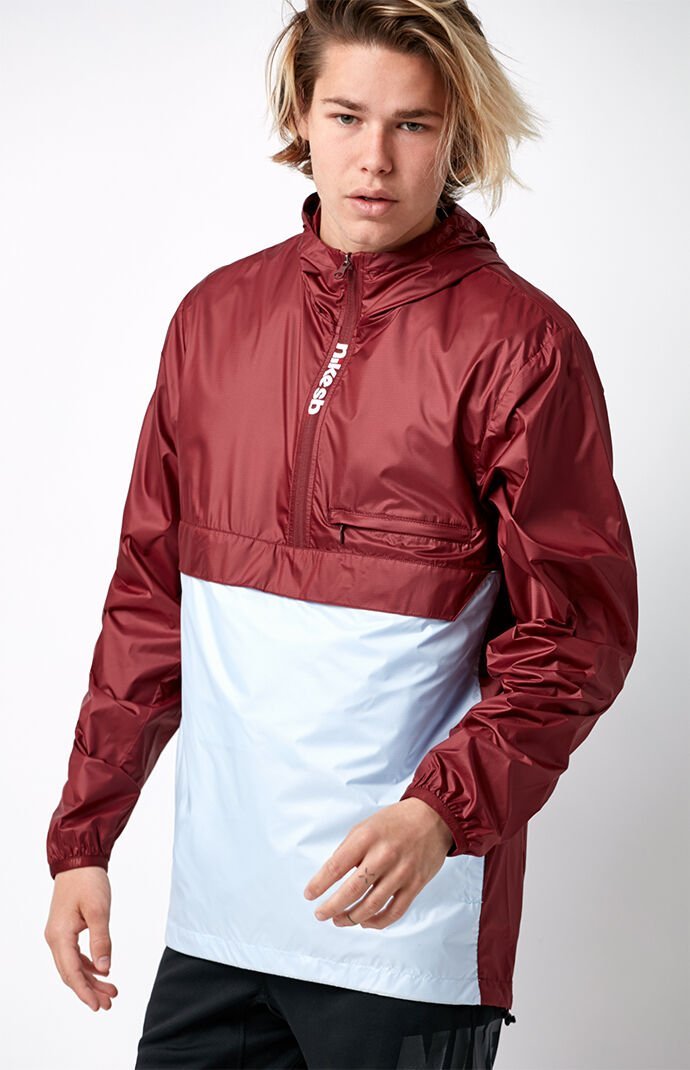 Nike SB Packable Anorak Jacket - Red/blue 6555262