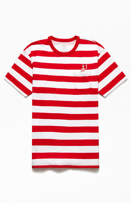 x Where's Waldo Striped T-Shirt